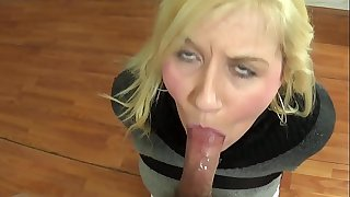 Girl Tied Up And Sucks Dick BDSM