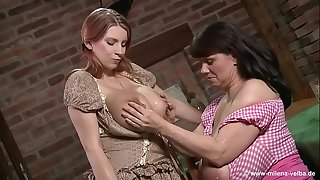 Lezzie Milfs Milking Each Other