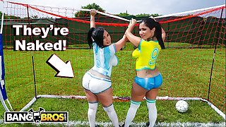 BANGBROS - Sexy Latina Pornstars With Big Asses Play Soccer And Get Nailed