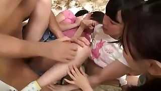 4 way with young teen Japanese Girls